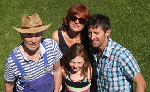 vier der aktuell fünf aus der Huber - Familie